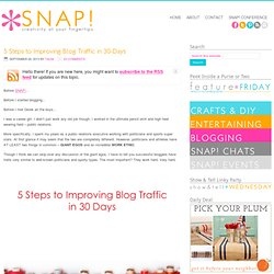 5 Steps to Improving Blog Traffic in 30-Days