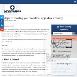 5 steps to making your medical app idea a reality