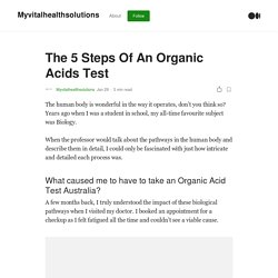 The 5 Steps Of An Organic Acids Test