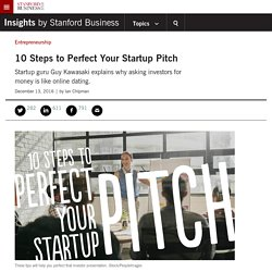 10 Steps to Perfect Your Startup Pitch