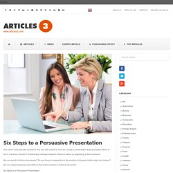 Six Steps to a Persuasive Presentation