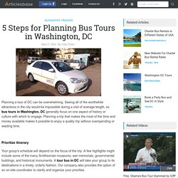 5 Steps for Planning Bus Tours in Washington, DC