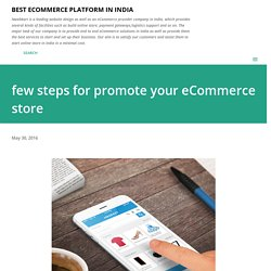 few steps for promote your eCommerce store