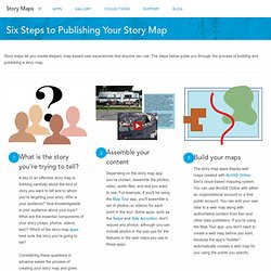 Six Steps to Publishing your Story Map