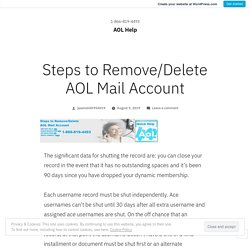 Steps to Remove/Delete AOL Mail Account – AOL Help