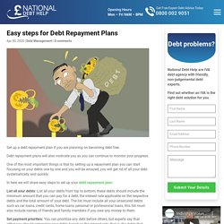 Easy steps for Debt Repayment Plans