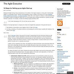 10 Steps for Setting up an Agile Start-up « The Agile Executive