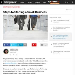 Steps to Starting a Small Business
