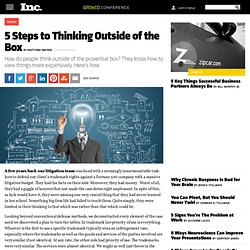 5 Steps to Thinking Outside of the Box