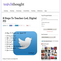 8 Steps To Teacher-Led, Digital PD