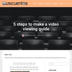 5 steps to make a video viewing guide