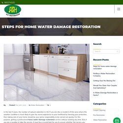 Steps for home water damage restoration - Ash 24/7 Restoration