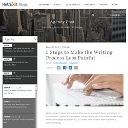 5 Steps to Make the Writing Process Less Painful