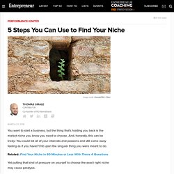 5 Steps You Can Use to Find Your Niche