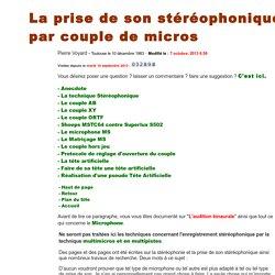 Prise de son Stéréo par couple - Pierre VOYARD