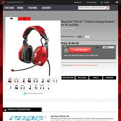 F.R.E.Q. 5 Stereo Gaming Headset for PC and Mac