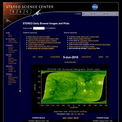 STEREO - Science Center - Daily Browse Data