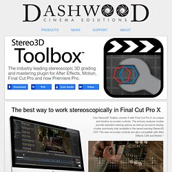"Stereo3D Toolboxâ""¢ Plugin Suite"