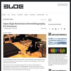 Open High Resolution Stereolithography, For Everyone