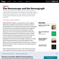 Oliver Wendell Holmes on the Stereoscope and Stereograph