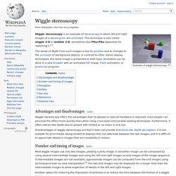 Wiggle stereoscopy
