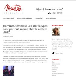Hommes/femmes : Les stéréotypes sont partout, même chez les élèves d'HEC