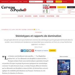 Stéréotypes et rapports de domination (homogénéité de l'exogroupe)