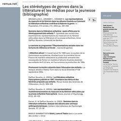 Les stéréotypes de genres dans la littérature et les médias pour la jeunesse (...) - remue.net