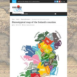 Stereotypical map of the Ireland's counties