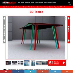 3D Tables: 'Stereovision' by John Nouanesing Adds a New Dimension to Decor