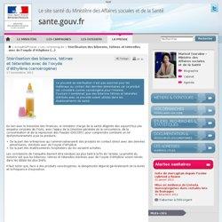MTES 17/11/11 Stérilisation des biberons, tétines et téterelles avec de l'oxyde d'éthylène (cancérogène)
