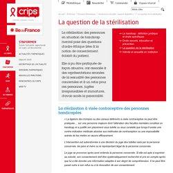 La stérilisation des personnes en situation de handicap mental : législation
