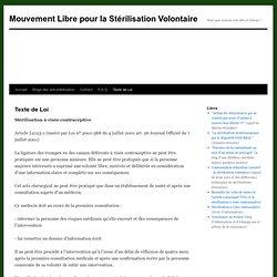 Mouvement Libre pour la Stérilisation Volontaire