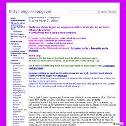 Sterke verb 7. trinn - Kittys engelskoppgaver