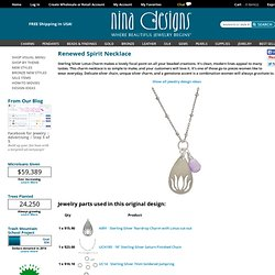 Sterling Silver Lotus Charm and yoga charms from Nina Designs are designer favorites. Stop by and see why.