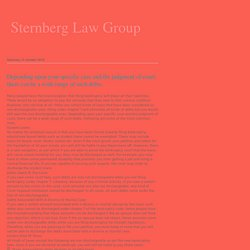 Sternberg Law Group: Depending upon your specific case and the judgment of court, there can be a wide range of such debts