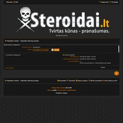 Steroidai.LT Forumas - Aprašo peržiūra - alizagreysen