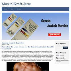 Anabole Steroide Bestellen