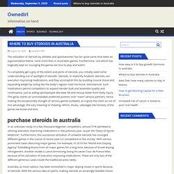 Where to buy steroids in Australia - Ownedirl