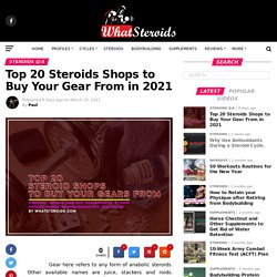 Top 20 Steroids Shops to Buy Your Gear From