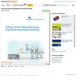 Online-Steuerberatung Digitalisierung Längst Überfällig