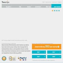 Deine Steuererklärung im Internet - Taxango.de