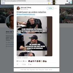 """Arno van 't Hoog on Twitter: """"Ondertussen op andere redacties #steunfreelancersnrc… """""""