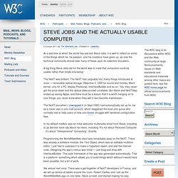 Steve Jobs and the actually usable computer - W3C Blog