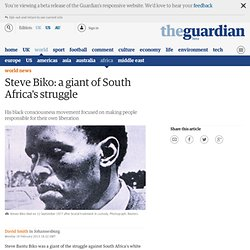 Steve Biko: a giant of South Africa's struggle