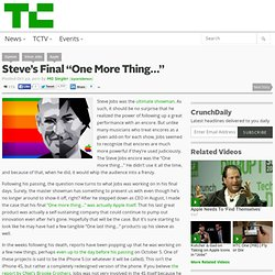 "Steve's Final ""One More Thing…"""