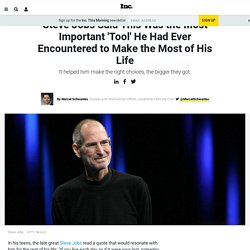 Steve Jobs Said This Was the Most Important 'Tool' He Had Ever Encountered to Make the Most of His Life
