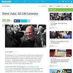 Steve Jobs: 20 Life Lessons
