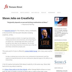 Innovation: What Steve Jobs Said About Creativity