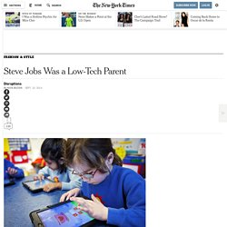 Steve Jobs Was a Low-Tech Parent